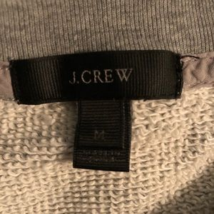 J. Crew Tops - J. Crew embellished grey French terry pullover